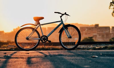 Indianapolis Bicycle at Sunset